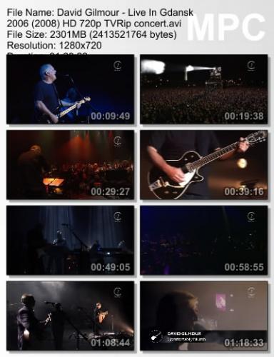 David Gilmour - Live In Gdansk 2006 (2008) (BDRip)