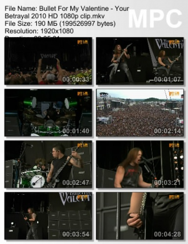 Bullet For My Valentine - Your Betrayal 2010 (Live)