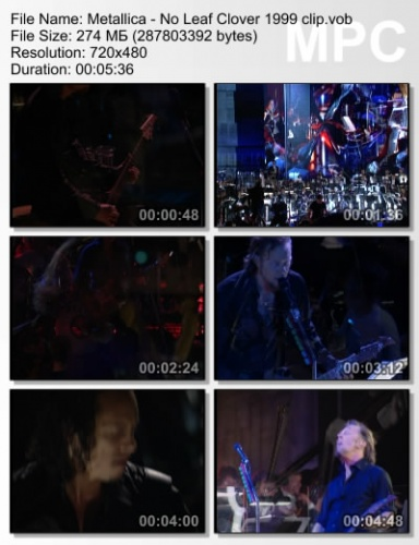 Metallica - No Leaf Clover 1999