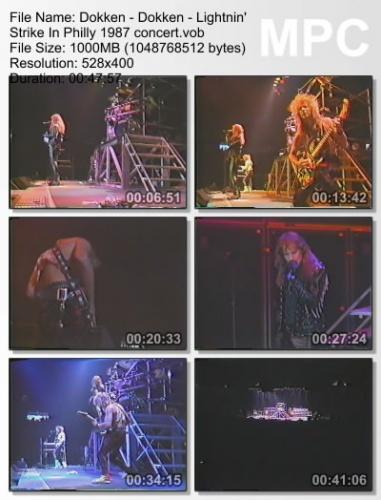 Dokken - Lightnin' Strike In Philly 1987 (DVDRip)